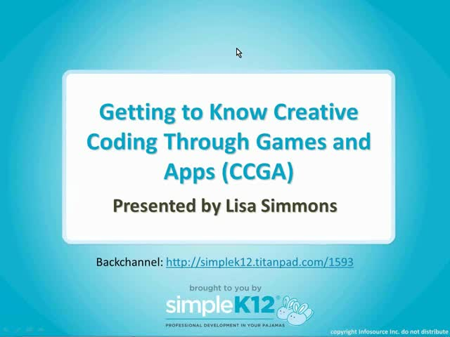 Getting to Know Creative Coding Through Games and Apps (CCGA