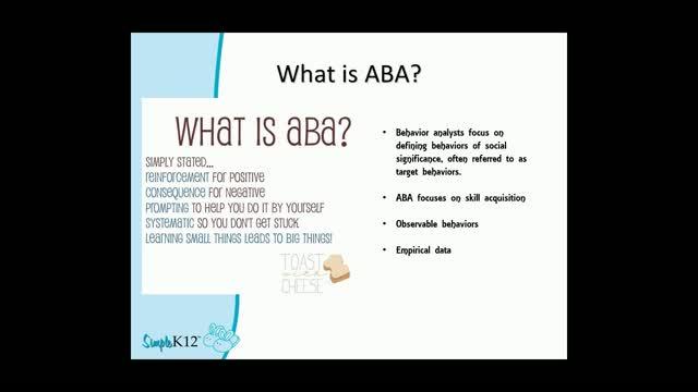 Positive Behavioral Change: An Intro to Applied Behavior Analysis (ABA)