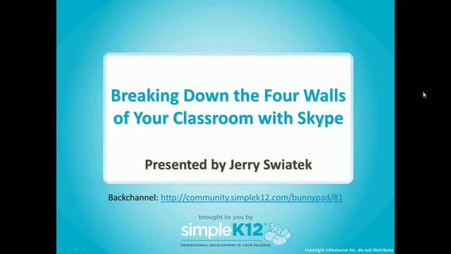 Breaking Down the Four Walls of Your Classroom with Skype